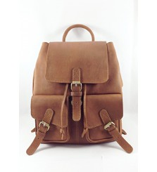 CHAD PULL UP TAN RUCKSACK