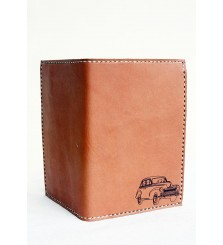 SKY TAN PASSPORT WALLET-CAR